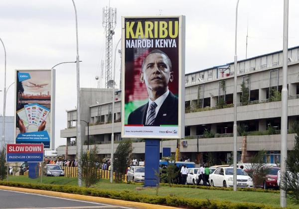 barack obama in kenya billboard kenya